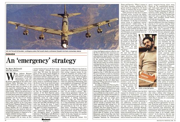 Article Preview: An 'emergency' strategy, March 1985 | Maclean's