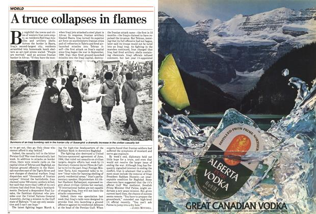 Article Preview: A truce collapses in flames, March 1985 | Maclean's