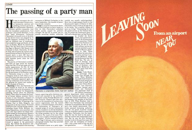 Article Preview: The passing of a party man, March 1985 | Maclean's