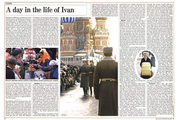 Article Preview: A day in the life of Ivan, March 1985 | Maclean's