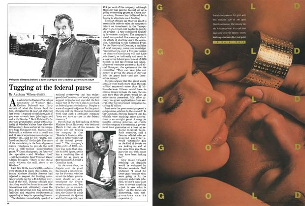 Article Preview: Tugging at the federal purse, March 1985 | Maclean's