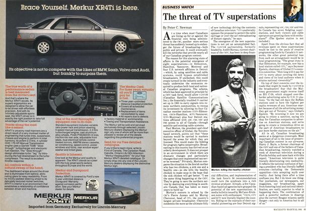 Article Preview: The threat of TV superstations, March 1985   Maclean's