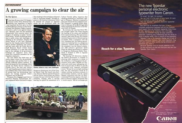 Article Preview: A growing campaign to clear the air, March 1985 | Maclean's