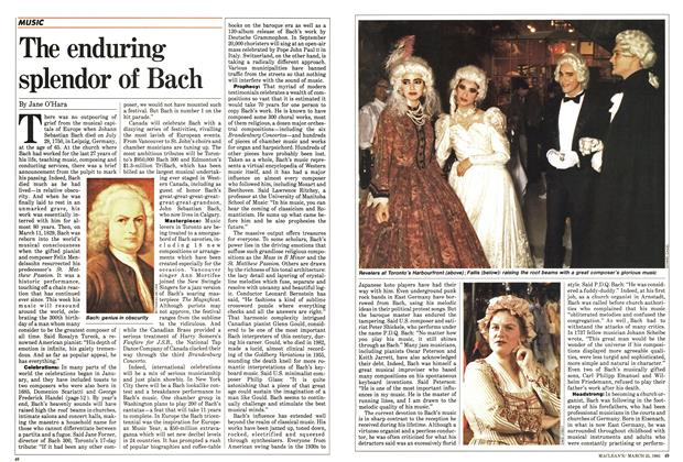 Article Preview: The enduring splendor of Bach, March 1985 | Maclean's