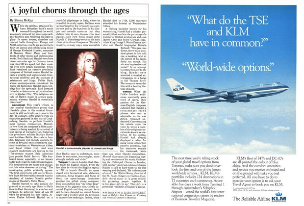 Article Preview: A joyful chorus through the ages, March 1985 | Maclean's