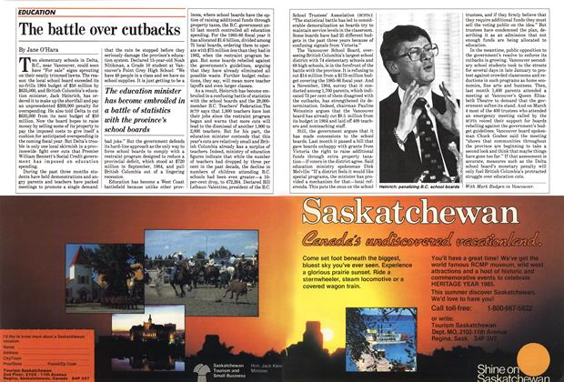 Article Preview: The battle over cutbacks, March 1985 | Maclean's