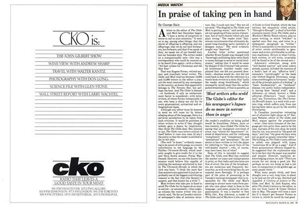 Article Preview: In praise of taking pen in hand, March 1985 | Maclean's