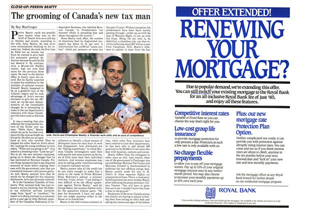 Article Preview: The grooming of Canada's new tax man, March 1985 | Maclean's