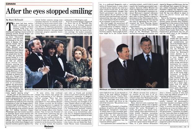Article Preview: After the eyes stopped smiling, April 1985 | Maclean's