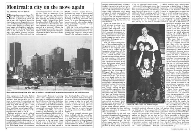 Article Preview: Montreal: a city on the move again, April 1985 | Maclean's