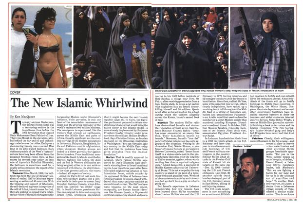 Article Preview: The New Islamic Whirlwind, April 1985 | Maclean's