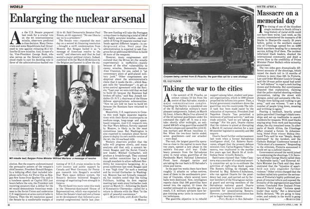 Article Preview: Enlarging the nuclear arsenal, April 1985 | Maclean's