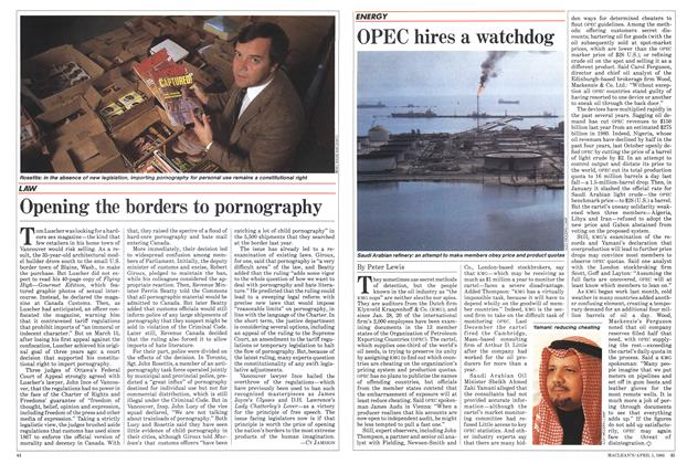 Article Preview: OPEC hires a watchdog, April 1985 | Maclean's