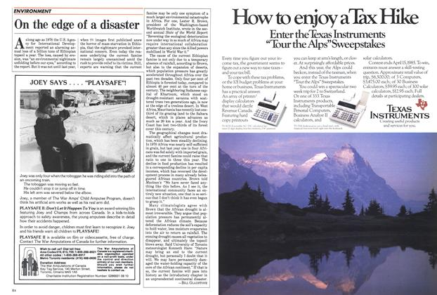 Article Preview: On the edge of a disaster, April 1985 | Maclean's