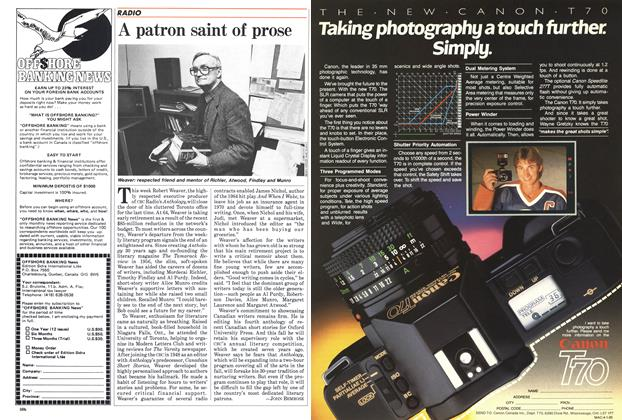 Article Preview: A patron saint of prose, April 1985 | Maclean's