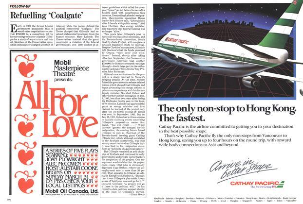 Article Preview: Refuelling 'Coalgate', April 1985 | Maclean's