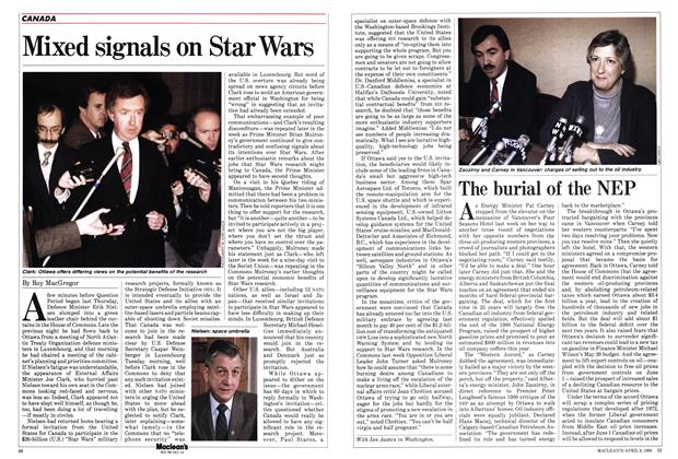 Article Preview: Mixed signals on Star Wars, April 1985 | Maclean's