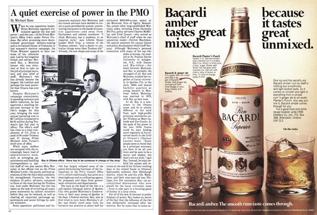 Article Preview: A quiet exercise of power in the PMO, April 1985 | Maclean's