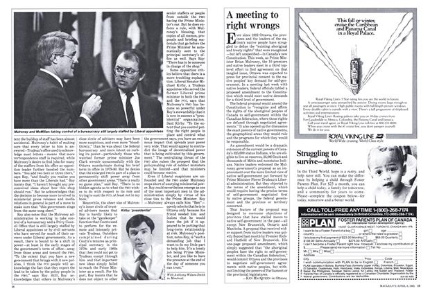 Article Preview: A meeting to right wrongs, April 1985 | Maclean's