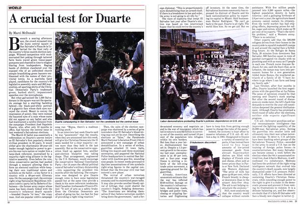 Article Preview: A crucial test for Duarte, April 1985 | Maclean's