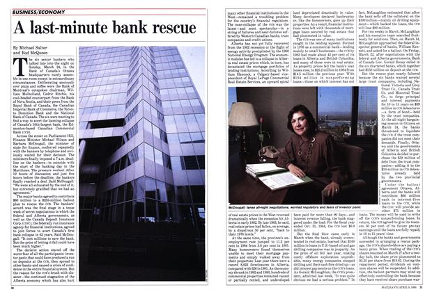 Article Preview: A last-minute bank rescue, April 1985 | Maclean's
