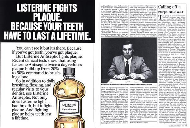 Article Preview: Calling off a corporate war, April 1985 | Maclean's