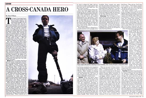 Article Preview: A CROSS-CANADA HERO, April 1985 | Maclean's