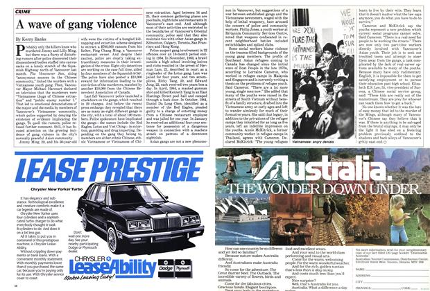 Article Preview: A wave of gang violence, April 1985 | Maclean's