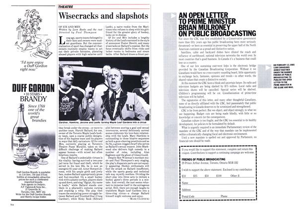 Article Preview: Wisecracks and slapshots, April 1985 | Maclean's