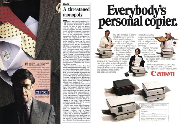 Article Preview: A threatened monopoly, April 1985 | Maclean's
