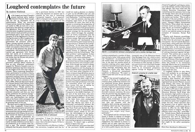 Article Preview: Lougheed contemplates the future, April 1985 | Maclean's