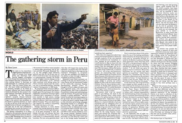 Article Preview: The gathering storm in Peru, April 1985 | Maclean's