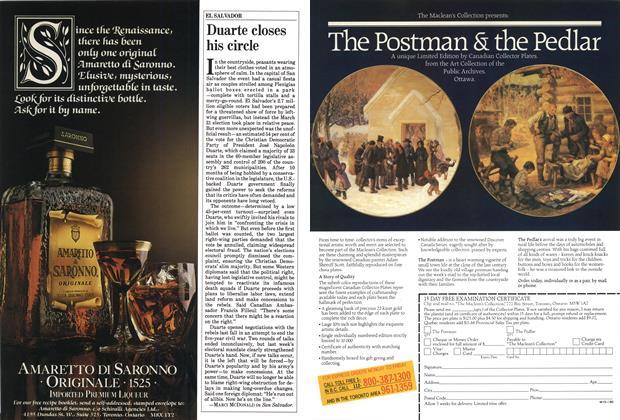 Article Preview: Duarte closes his circle, April 1985 | Maclean's