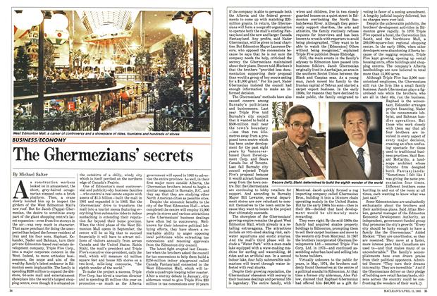 Article Preview: The Ghermezians' secrets, April 1985 | Maclean's