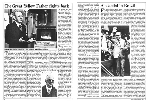 Article Preview: The Great Yellow Father fights back, April 1985 | Maclean's