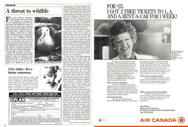 Article Preview: A threat to wildlife, April 1985 | Maclean's