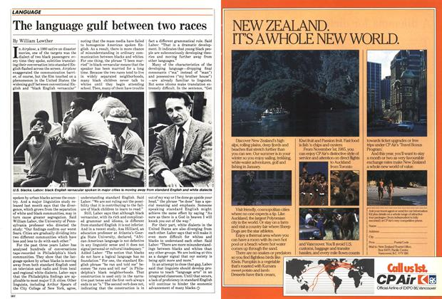 Article Preview: The language gulf between two races, April 1985 | Maclean's