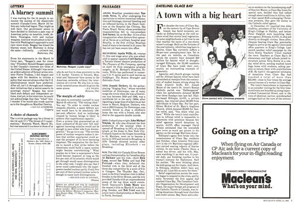 Article Preview: A town with a big heart, April 1985 | Maclean's