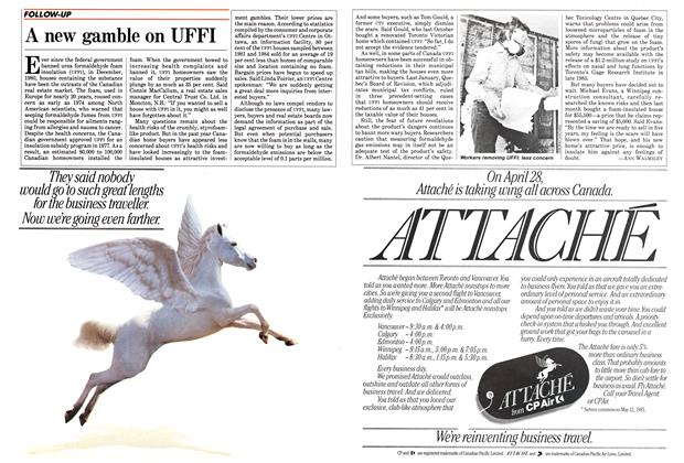 Article Preview: A new gamble on UFFI, April 1985 | Maclean's