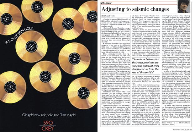 Article Preview: Adjusting to seismic changes, April 1985 | Maclean's