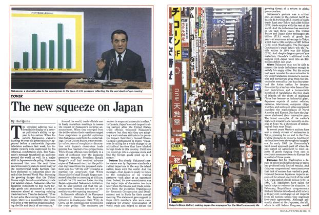 Article Preview: The new squeeze on Japan, April 1985 | Maclean's
