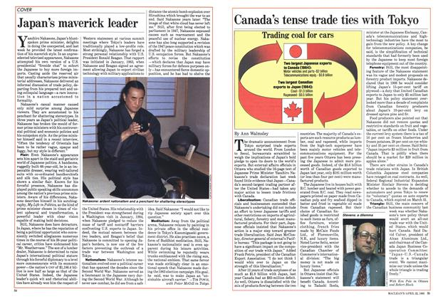 Article Preview: Canada's tense trade ties with Tokyo, April 1985 | Maclean's