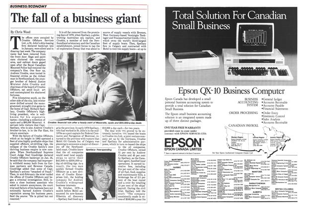 Article Preview: The fall of a business giant, April 1985 | Maclean's
