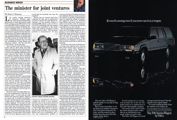 Article Preview: The minister for joint ventures, April 1985 | Maclean's