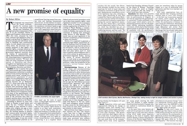 Article Preview: A new promise of equality, April 1985 | Maclean's