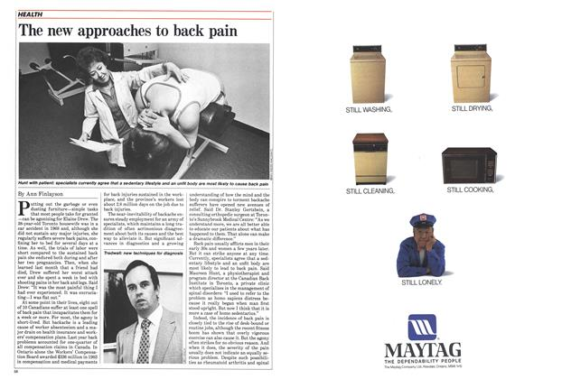 Article Preview: The new approaches to back pain, April 1985 | Maclean's