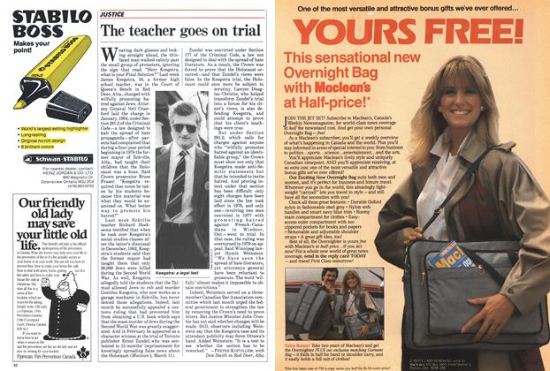 Article Preview: The teacher goes on trial, April 1985 | Maclean's