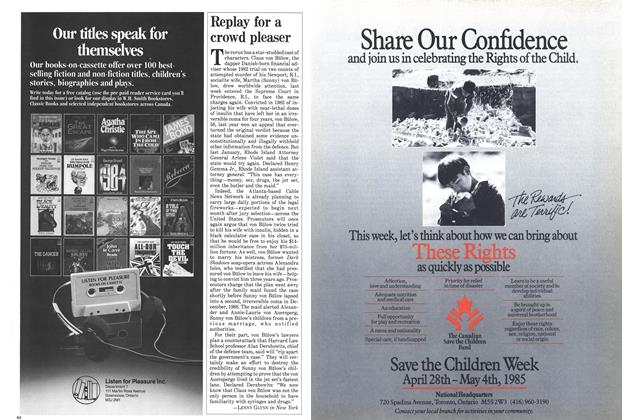 Article Preview: Replay for a crowd pleaser, April 1985 | Maclean's