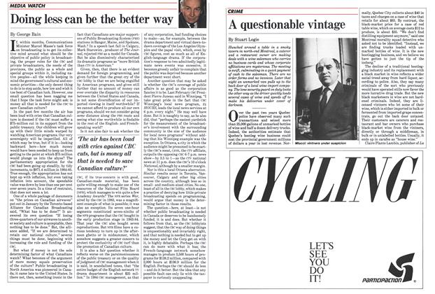 Article Preview: Doing less can be the better way, April 1985   Maclean's