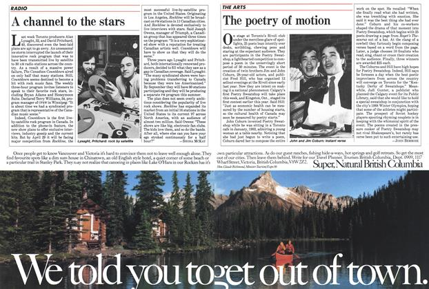 Article Preview: A channel to the stars, April 1985 | Maclean's